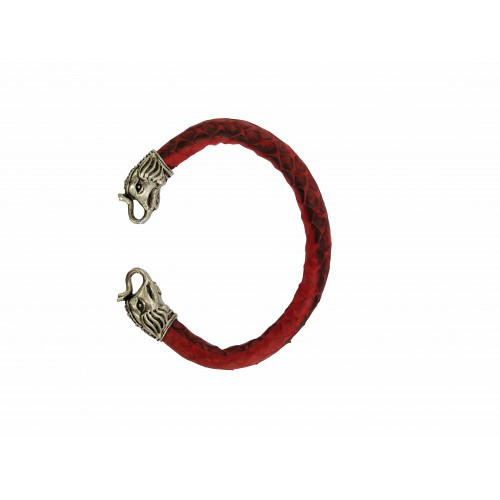 Elephant Head Leather Cuff Bracelet