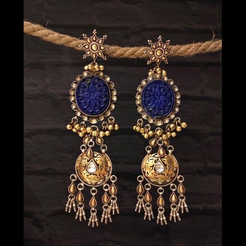 Two Tone Lapis Chandeliers