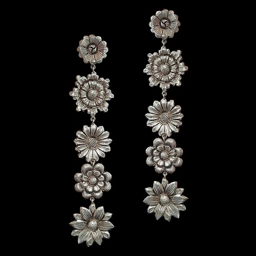 Five Layer Floral Earring