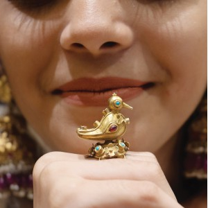 Bird Motif Gold Ring