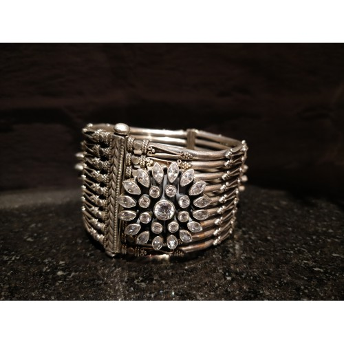 Tribal Stone Antique Broad Cuff