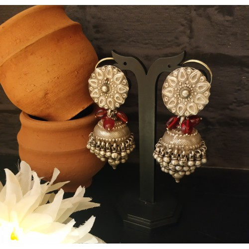 Antique Tribal Fusion Jhumkis