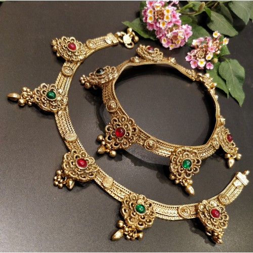 Gold Plated Traditional Anklet