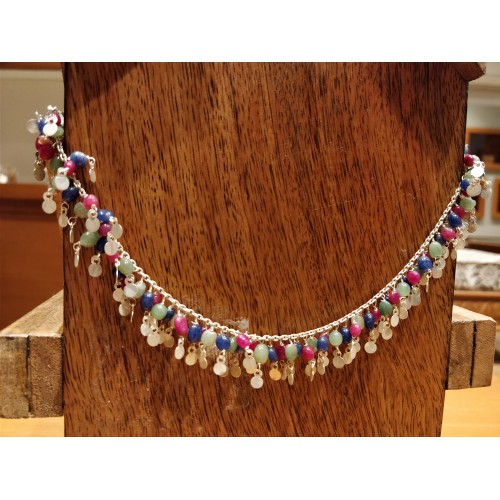 MULTICOLOURED BEADS ANKLETS