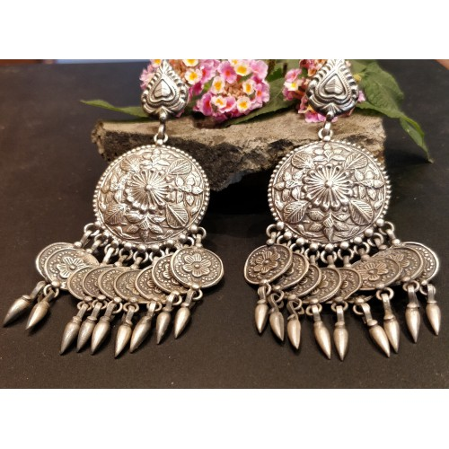 Gallant Oxidized Statement Earrings