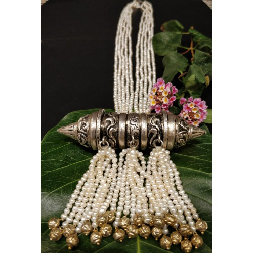 Exquisite Pearl Silver Necklace