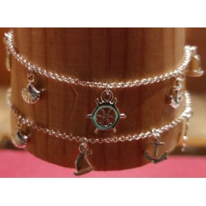 Marine Life Charms Anklets