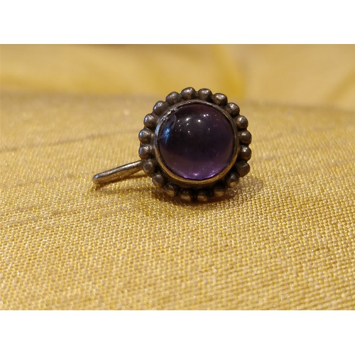 Jumbo Mauve Cabochon Center Nose Pin