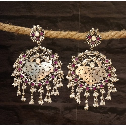 Pure Silver Chandelier Earrings