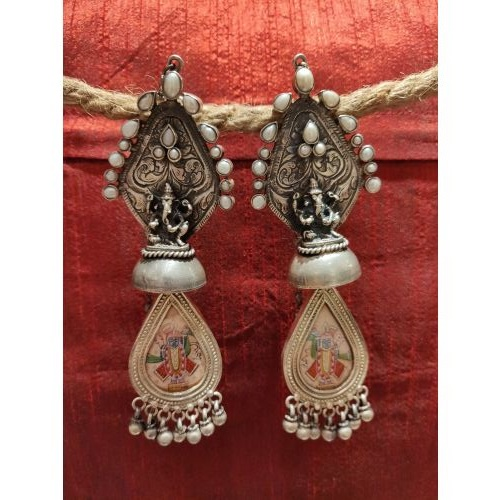 Ganpati Shrinathji Amalgam Connecting Danglers
