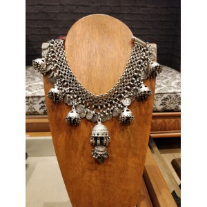 Coin Jhumka Necklace