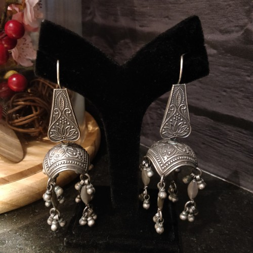 Boho-Ethnic Fish Drop Jhumka